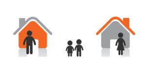 two homes split parents